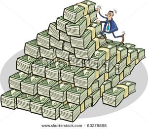 stock-vector-businessman-climbing-on-mountain-of-money-60278896